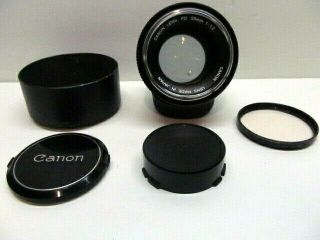 【rare W/ Hood】canon Fd 55mm F1.  2 Standard Fast Model Chrome Nose