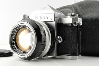 Rare Early Nikon F W Eyelevel /nikon Nikkor - S Auto 1:1.  4 F=50mm From Japan 0011