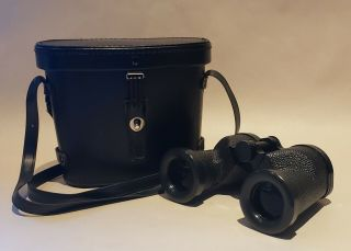 Vintage Mirador 9x35 Field 7.  5° Binoculars Made In Japan With Case Rare Htf