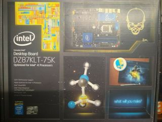 Rare Intel Extreme Series Dz87klt - 75k Lga 1150 Motherboard W/ Io Plate And More