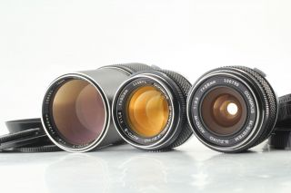 Rare Olympus M - System 3 Lens Set Zuiko 50mm F1.  4 28mm F3.  5 200mm F4 From Japan