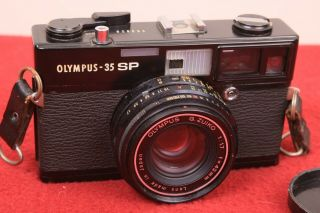 Olympus Rare Black Paint 35sp Rangefinder Zuiko 42mm 1.  7 35mm Analog Camera