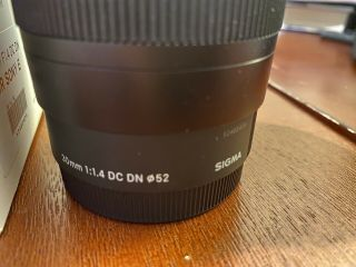 Sigma 30mm F/1.  4 Dc Dn Lens For Sony In Great Shape.  Rarely.