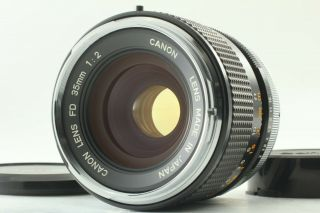 "Rare "" O "" [mint] Canon Fd 35mm F2 Wide Angle Mf Lens From Japan"
