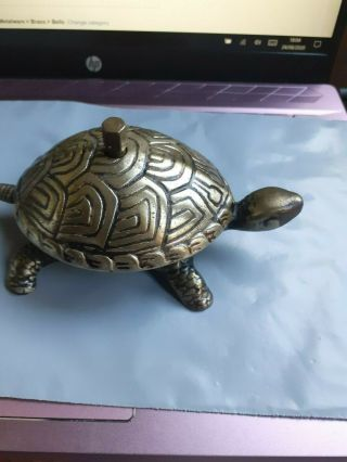 Rare Antique Bronze Tortoise Counter Bell Marked Drcm Serial Number 7 - 7016 C1865
