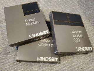 Mindset Computer Printer Telecom And Modem 300 Modules Rare Atari Nr