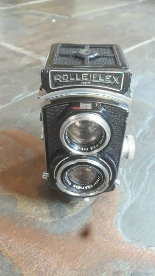 Rolleiflex 4x4 Sport Tlr (rare Wartime Model)