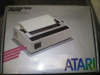 Vintage Atari 1025 Compact 80 - Column Printer For 800xl Oem W.  Box Rare