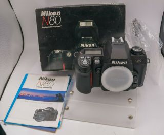 Rare Nos - Nikon N80 35mm Film F Af Lens Mount Slr Camera Body Only