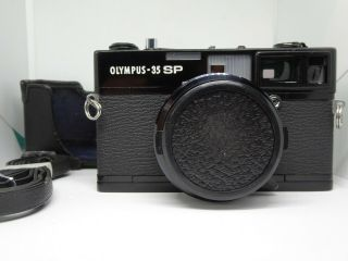 【rare】olympus - 35 Sp 35mm Rangefinder Camera W/g.  Zuiko 42mm F1.  7 Lens Black Paint