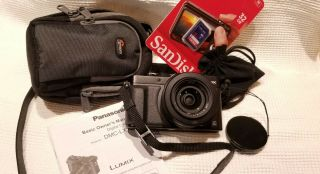 Panasonic Lumix Dmc - Lx100 12.  8mp Digital Camera - Black - Rarely.  Case Inc.