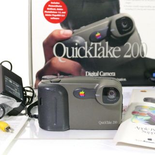 Apple Quicktake 200 Digital Camera,  Memory Card,  More - Rare