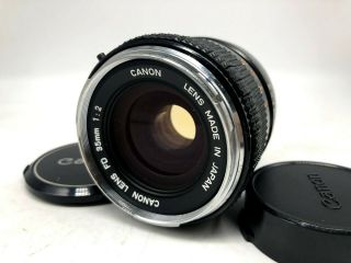 "Rare "" O "" [optics Nr Mint] Canon Fd 35mm F/2 Wide Angle Mf Lens From Japan ✈fedex"