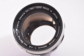 Rare Canon 50mm/f1.  2 Leica 39mm Lmt Screw Mount 44714