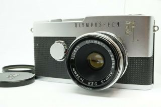 [rare Exc,  5] Olympus Pen F,  D.  Zuiko Auto - S 38mm F/2.  8 Limited Lens From Japan
