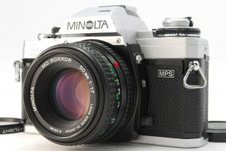 Rare Near Minolta X - 700 Mps Silver Slr Film Camera,  50mm F1.  7 From Japan