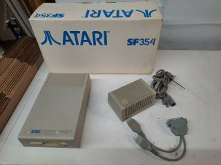 Rare Vintage Atari Sf354 Floppy Drive With Box And Packaging Retro