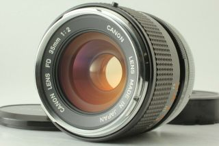 【near Rare O】 Canon Fd 35mm F2 Mf Wide Angle Lens Fd Mount From Japam 127
