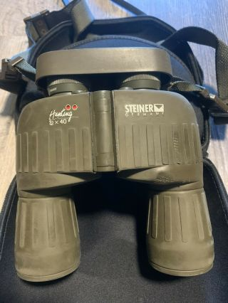 Rare Steiner Hunting 12x40 Binoculars With Case Made In Germany