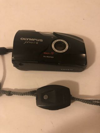 Olympus Mju: Ii Point And Shoot 35mm Film Camera Rare With Remote.