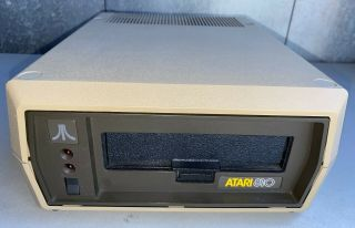 Atari 810 Floppy Disk Drive Brown Box Rare Dos 1.  0 Version
