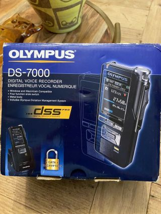 Olympus Professional Dictation System/recorder Ds - 7000,  Rare Find Ships