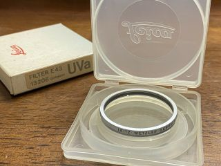 [very Rare In Box] Leica Leitz E43 Uva Protection Filter 13206 From Japan