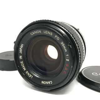 ✈fedex【 Rare O Lens】 Canon Fd 35mm F/2 S.  S.  C.  Ssc Mf Lens From Japan