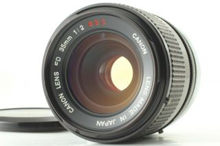 【exc,  4 Rare O Lens】 Canon Fd 35mm F/2 S.  S.  C Wide Angle Lens Ssc From Japan 1002