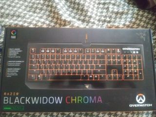 Razer Blackwidow Chroma Gaming Keyboard,  Overwatch Edition,  Rare