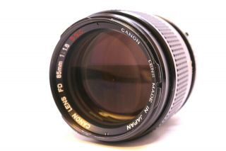 【rare Execellent+++ 】 Canon Fd S.  S.  C 85mm F1.  8 From Japan