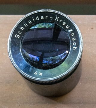 Schneider - Kreuznach 4x Loupe Very Old And Rare