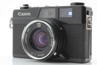 Rare 【exc,  5】canon Canonet Ql17 Black Rangefinder 40mm F/1.  7 Lens From Japan 463