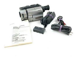 Very Rare Sony Ccd - Trv 615 Hi8,  8mm Xray Camcorder Ntsc Player.  Made In Japan.