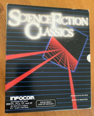 Rare Infocom Science Fiction Classics Ibm Pc - Dos 2.  0 & Dos 2.  0 Computer Games