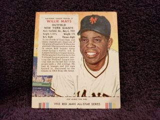 Very Rare 1955 Red Man 7 Willie Mays W/tab,  York Giants,  Look