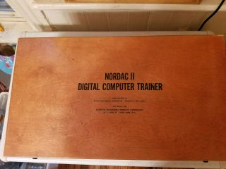 Nordac Ii Digital Computer Trainer Serial Number 3548 Very Rare