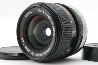 """【near Rare """" O """" 】 Canon Fd 24mm F2.  8 S.  S.  C.  Mf Lens Fd Mount From Japan A30"""