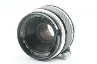 """Rare """" / Exc,  """" Canon 35mm F2.  8 Leica Screw Mount L39 Ltm From Japan"""