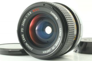"""Fedex【rare """" O """" N Mint】 Canon Fd 24mm F2.  8 S.  S.  C.  Wide Angle Lens Ssc From Japan"""