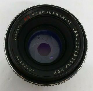 Carl Zeiss Pancolar Electric 1.  8/50 Red Mc M42 Ultra Rare [low Value Gift Decl.  ]