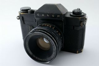 Rare [excellent,  ] Canon Canonflex Rp Black Film Camera W/50mm F1.  8 From Japan
