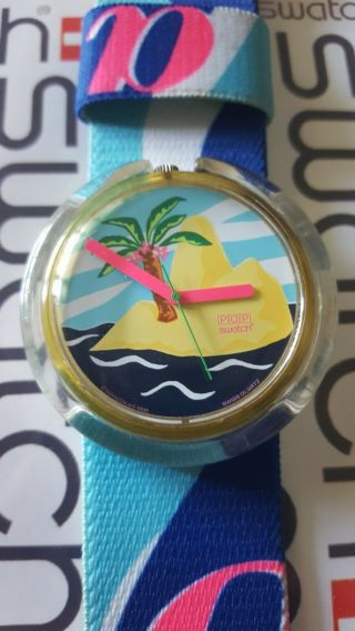 Swatch Lonely Island Pwk182 1993 Pop 39mm Textile