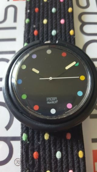 Swatch Parade Pwbb121 1991 Pop 39mm Textile Band Loop Missing