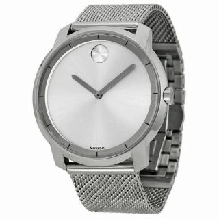 """"""" Movado """" Bold 3600260 Silver Stainless Steel Men"""