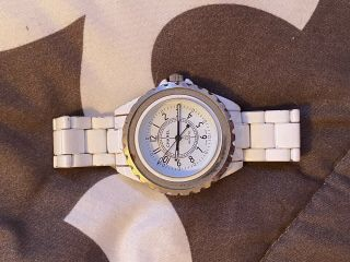 Old Chanel J 12 Watch White