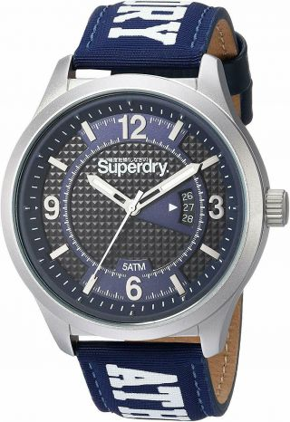 Superdry Unisex Analogue Quartz Watch With Textile Strap Sygsyg171uw