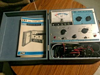 1966 B&k Model 465 Crt Cathode Ray Tube Tester Dynascan Corp W Accessories