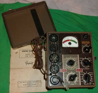 Triplet 1213 Tube Tester Powers Up For Restoration Orig Cond.  1939