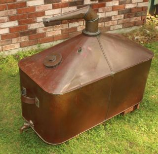 Wow Large Antique 40 Gallon,  Moonshine Whiskey,  Copper Still Nr